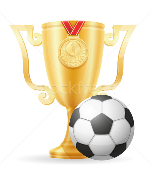 Football tasse gagnant or stock isolé Photo stock © konturvid