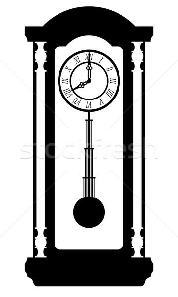 Foto stock: Reloj · edad · retro · vintage · icono · stock
