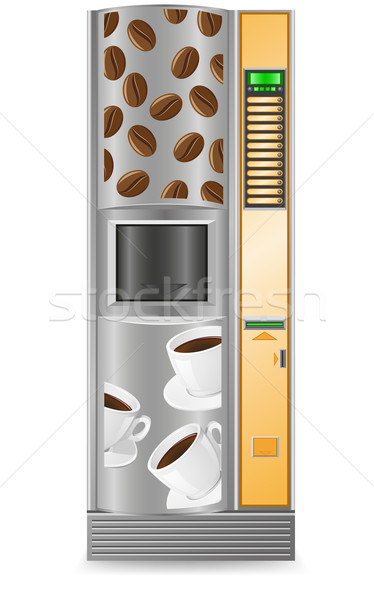 vending coffee is a machine vector illustration Stock photo © konturvid