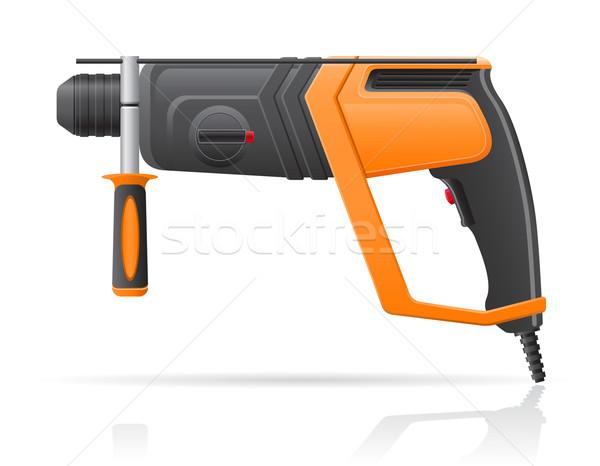 electric perforator vector illustration Stock photo © konturvid