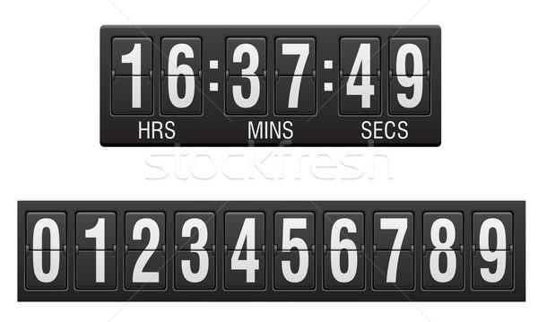 Tabellone segnapunti conto alla rovescia timer isolato bianco design Foto d'archivio © konturvid