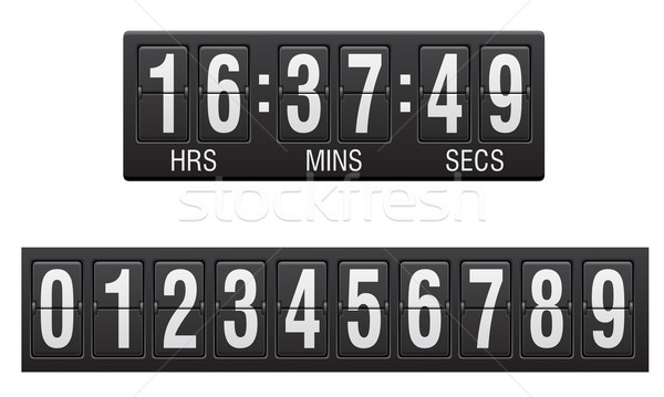 Scorebord countdown timer geïsoleerd witte ontwerp Stockfoto © konturvid