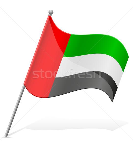 flag of United Arab Emirates vector illustration Stock photo © konturvid