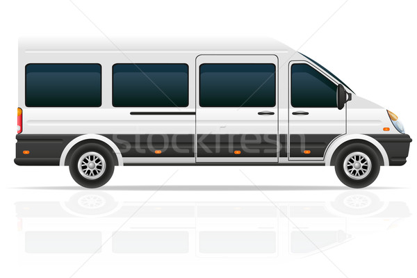 minio bus for the carriage of passengers vector illustration Stock photo © konturvid