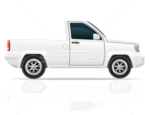car pick-up vector illustration Stock photo © konturvid