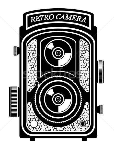 camera photo old retro vintage icon stock vector illustration Stock photo © konturvid