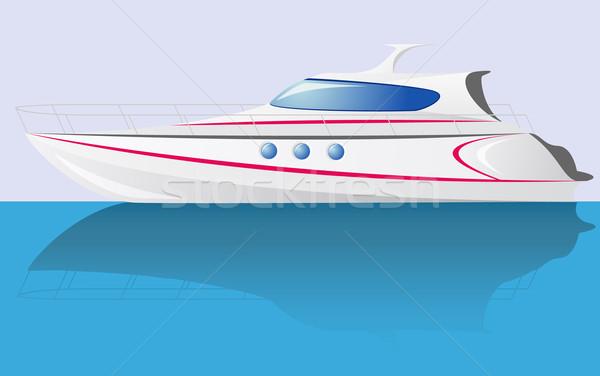 Stock photo: white speed yacht