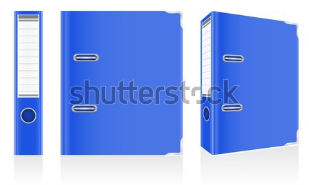 folder blue binder metal rings for office vector illustration Stock photo © konturvid