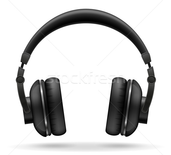 acoustic headphones vector illustration Stock photo © konturvid