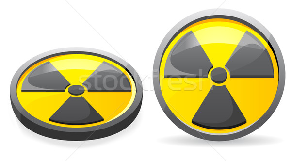an emblem is a sign of radiation vector illustration Stock photo © konturvid