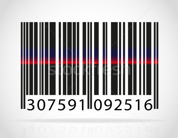 barcode with the strip from the laser vector illustration Stock photo © konturvid