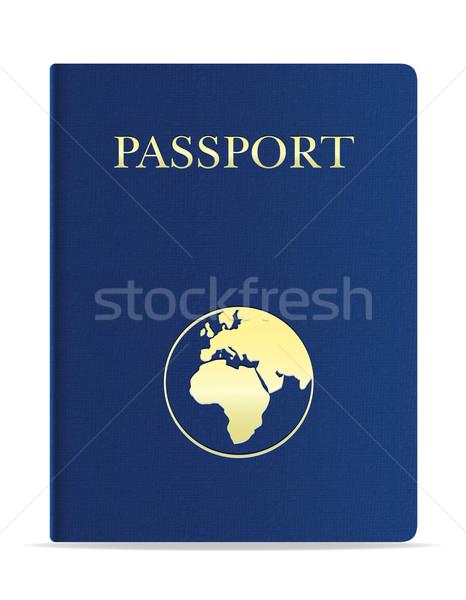 Pasaporte aislado blanco negocios hombre mapa Foto stock © konturvid
