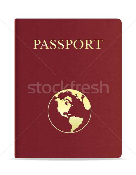 passport vector illustration Stock photo © konturvid