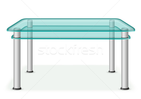 glass table furniture vector illustration Stock photo © konturvid