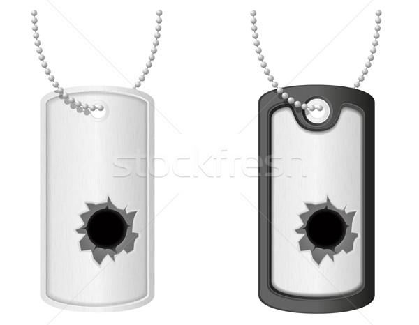 soldier military badge token vector illustration Stock photo © konturvid