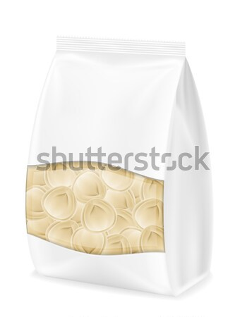 dumplings ravioli of dough with a filling in packaged vector ill Stock photo © konturvid