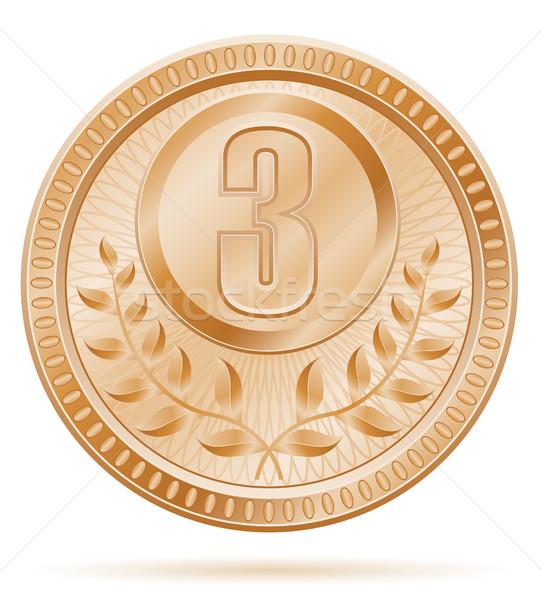 medal winner sport bronze stock vector illustration Stock photo © konturvid