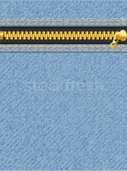 Jeans textura zíper metal indústria cor Foto stock © konturvid