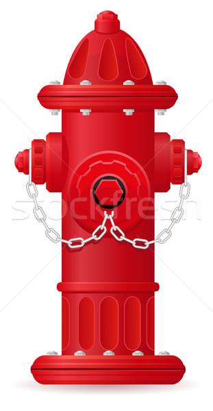 fire hydrant vector illustration Stock photo © konturvid