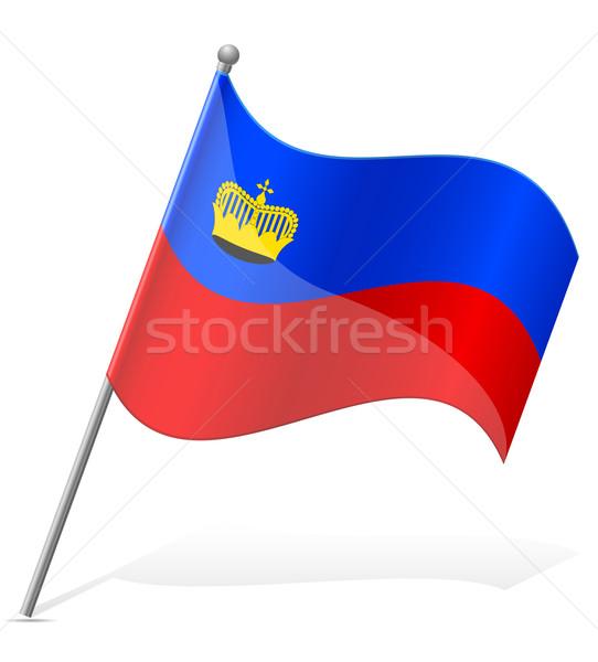 Bandiera Liechtenstein isolato bianco mondo pittura Foto d'archivio © konturvid