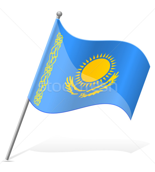 flag of Kazakhstan vector illustration Stock photo © konturvid