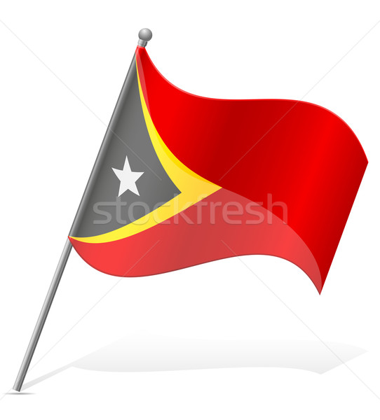 flag of East Timor vector illustration Stock photo © konturvid