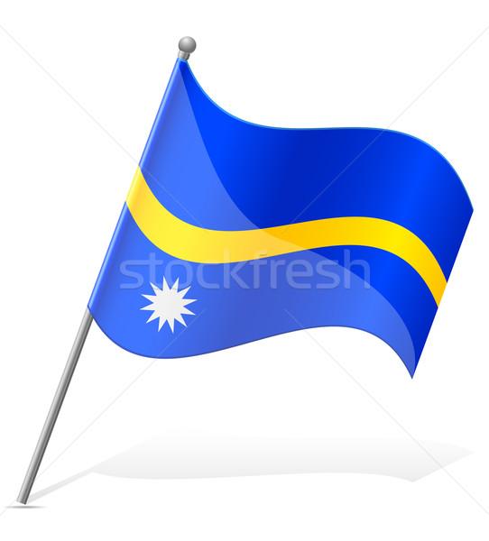 flag of Nauru vector illustration Stock photo © konturvid