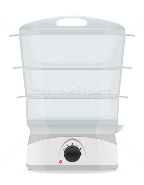 electric double boiler vector illustration Stock photo © konturvid