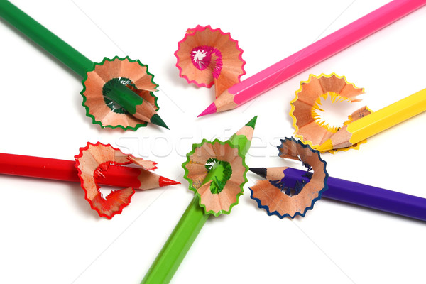 pencils and shaving Stock photo © konturvid