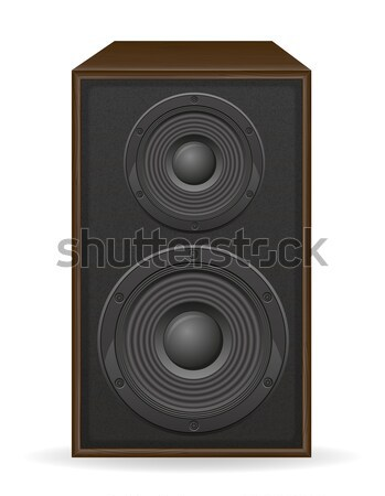 acoustic loundspeaker vector illustration Stock photo © konturvid