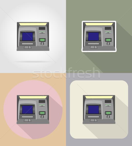 atm flat icons vector illustration Stock photo © konturvid