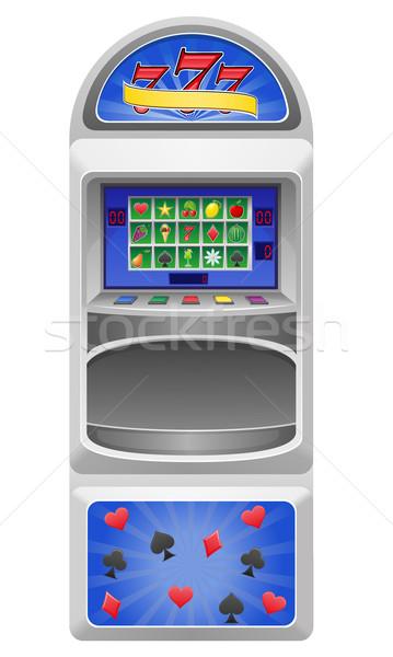 Játékautomata izolált fehér gyümölcs csillag citrom Stock fotó © konturvid
