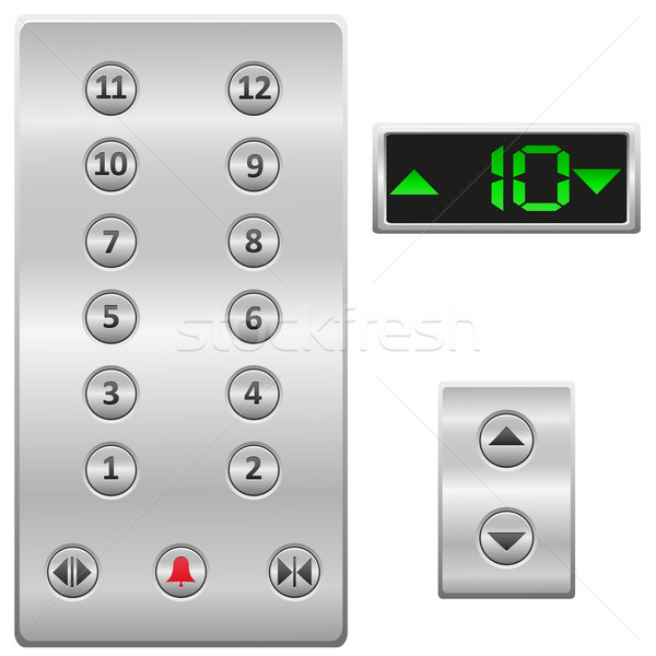elevator buttons panel vector illustration Stock photo © konturvid