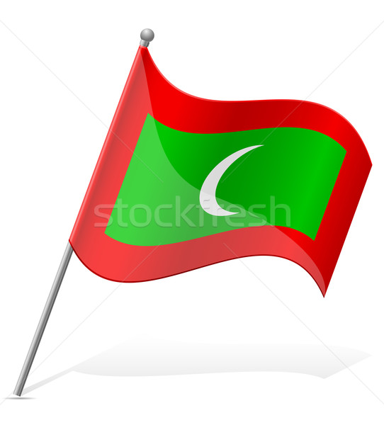 flag of Maldives vector illustration Stock photo © konturvid