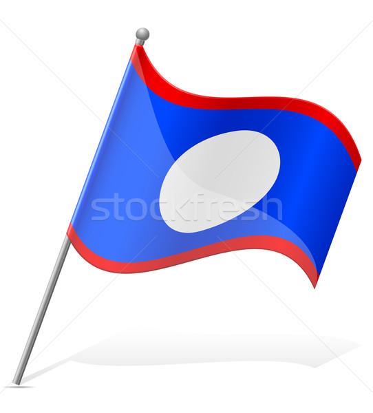Zászló Belize izolált fehér földgömb világ Stock fotó © konturvid