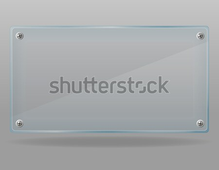 şeffaf cam plaka yalıtılmış gri pencere Stok fotoğraf © konturvid