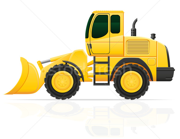 bulldozer for road works vector illustration Stock photo © konturvid