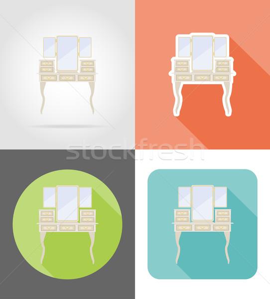 Ijdelheid tabel oude retro meubels ingesteld Stockfoto © konturvid