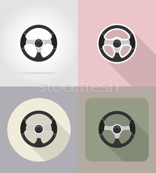 Coche volante iconos aislado velocidad negro Foto stock © konturvid