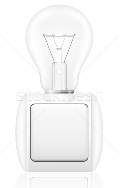 concept of light bulb with a switch vector illustration Stock photo © konturvid