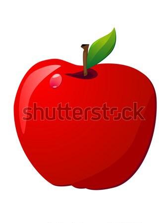Stockfoto: Appel · Rood · appels · geïsoleerd · witte · vruchten