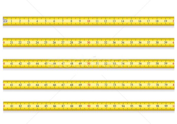 巻き尺 ツール ルーレット eps 10 孤立した ストックフォト © konturvid