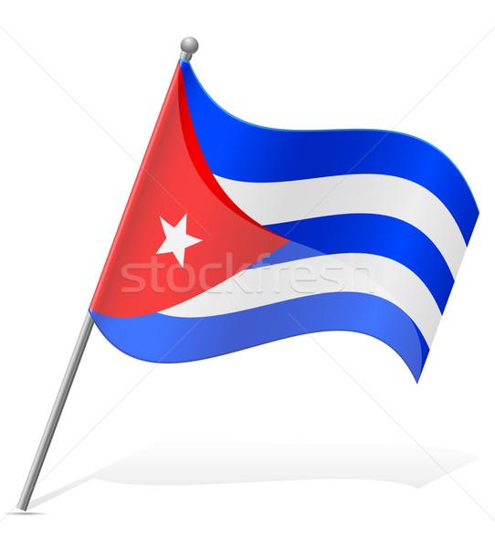 flag of Cuba vector illustration Stock photo © konturvid