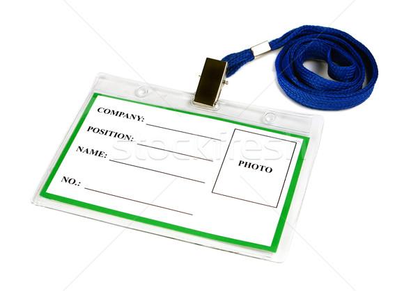 カード 空っぽ イド バッジ 孤立した 白 ストックフォト © konturvid