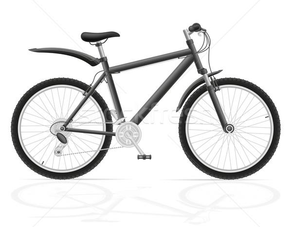 mountain bike with gear shifting vector illustration Stock photo © konturvid
