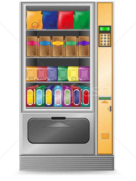 vending snack is a machine vector illustration Stock photo © konturvid
