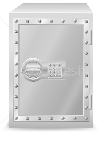 safe with electronic combination lock vector illustration Stock photo © konturvid