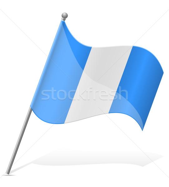 Bandeira Guatemala isolado branco globo mundo Foto stock © konturvid