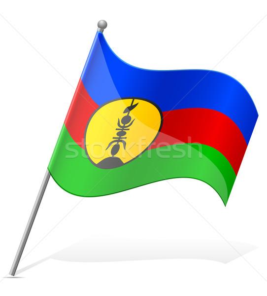 flag of New Caledonia vector illustration Stock photo © konturvid
