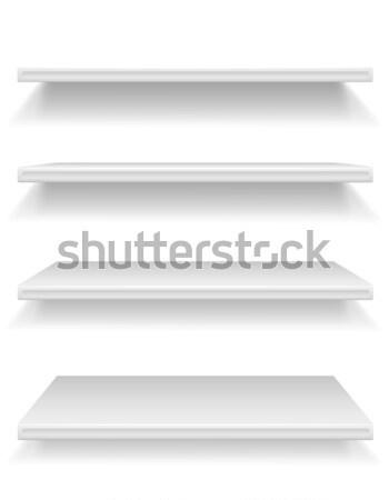 plastic shelf vector illustration Stock photo © konturvid